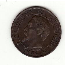 NAPOLEON III TETE NUE 5 CENTIMES 1856 W SUP  cote 65 euro