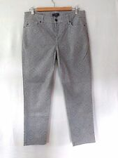 Not Your Daughters Jeans Clarissa Skinny Ankle Womens 10 Petite Grey Paisley