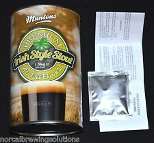 Homebrew LME Beer Recipe Kit Muntons IRISH STYLE STOUT 6 Gallon Guinness Murphys