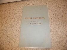 1913.Catalogue vente quatre portraits de l'atelier J.-M.Nattier..