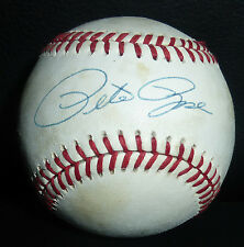 Pete Rose Signed Bart Giamatti National League Baseball PSA/DNA COA Auto'd Reds