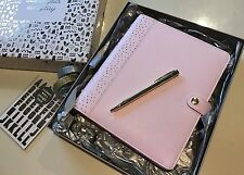 NEW KIKKI K LARGE A5 PLANNER PINK LAVENDAR GOLD FOIL BOX +GOODIES GLITTER WASHI