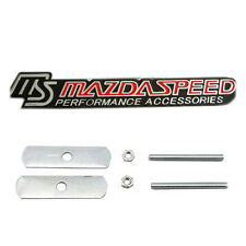 MS MAZDASPEED 3D METAL CAR FRONT GRILL EMBLEM BADGE FOR MAZDA M3 M5 M6 ATENZA