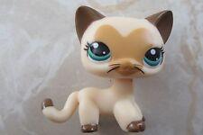 Littlest Pet Shop RARE Standing Cat #3573 Tan Brown Heart Face Short Hair LPS