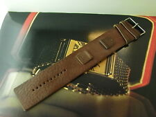 GENUINE FOSSIL JR-9948 18MM BROWN MILITARY THICK LEATHER WATCH BRACELET