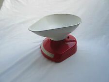 vintage retro Salter red plastic kitchen weighing scales