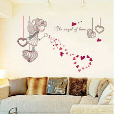 Angel Love Removable Vinyl Decal Wall Sticker Mural Art BedRoom Home DIY Decor