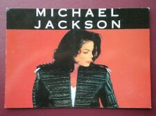 POSTCARD MUSICIANS L6-15 MICHAEL JACKSON IN BLACK LEATHER JACKET