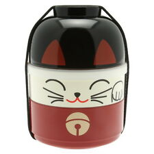 1pc Japanese Kokeshi Red Cat  Bento box for Made In Japan #280-225