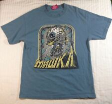 Mishka Keep Watch Eyeball BMX Bike Graphic Shirt Adult L Steel Gray MNWKA Design