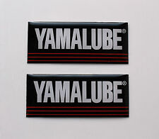 Yamalube stickers/decals 40mm X 16 Mm De Alto Brillo Gel Acabado motorcycle/motorsport