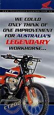 Prospekt Folder GB Honda CT 200 Australien Motorrad brochure Broschüre Enduro