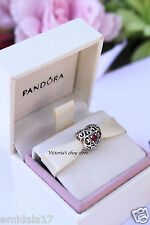 AUTHENTIC PANDORA CHARM JANUARY SIGNATURE HEART GARNET #791784GA