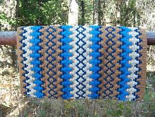 Custom Arroyo Seco Show Blanket - 38x34 (Buckskin Base/Sand and Blue) by Mayatex
