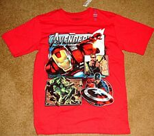 CHILDRENS PLACE T-SHIRT T XL RED AVENGERS IRON MAN HAWKEYE HULK C AMERICA MARVEL