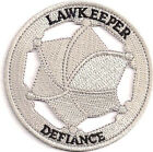 """Defiance TV Series Lawkeeper Badge 3"""" Embroidered Patch (DFPA-01)"""