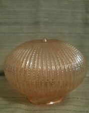 "VTG Round 6"" Amber Hobnail Beaded Glass Globe Ceiling Fixture Shade Carnival"