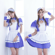 Lolita Japanese School Girls Maid Costume Anime Cosplay Uniform Dress Halloween