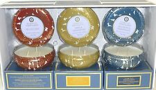 Simply Indulgent Scented Luxury Candles Tin Holders w/Lids 3 Pack