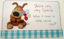 """BOOFLE"" HEART WARMER KEEPSAKE MESSAGE CARD ""YOU'RE VERY SPECIAL"" VALENTINES DAY"
