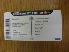 02/01/2013 Ticket: Newcastle United v Everton  . Footy Progs/Bobfrankandelvis, e