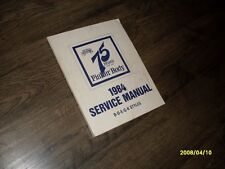 1984 Fisher Body Service Manual B D E G K Body Styles Buick Olds Pontiac Chev GM