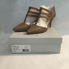 """NEW  Sole Society Womens """"Mallory"""" T-Strap Leather """"Totally Taupe"""" Pumps  Sz 11M"""