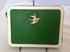 Juicy Couture Leather Wristlet Ipad Zip Folio Green - Bird Charm YTRUT283