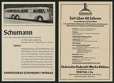 Auto Wagenbau Schumann Werdau Cainsdorf Pirna Sachsen Omnibus Alstom Linke 1938