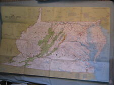 THE MID-ATLANTIC STATES MAP MD VA DE WV National Geographic October 1976 MINT