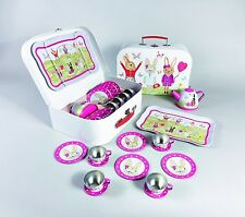 Floss & Rock Bunny Rabbit Tin Tea 15 Piece Play Set Lovely Decorated Girl Gift