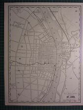 1890 Ciudad map/plan St Louis Unión Depot ~ Excelente Estado ~ Rand Mcnally