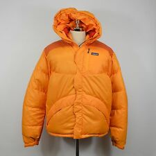 PATAGONIA Men's Down PARKA Hooded JACKET / Orange MEDIUM