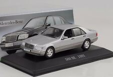1991 Mercedes-Benz 500 SE W140 silver 1:43 IXO Altaya Collection