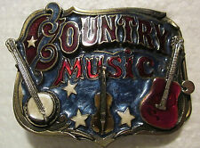 Country Music-Enameled  Pewter (Numbred 919)Great American Buckle Company