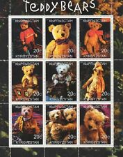 TEDDY BEARS CUTE CUDDLY KYRGYZSTAN 2000 MNH STAMP SHEETLET