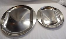 2 IKEA 365+ Stainless Steel Serving Trays 29CM & 39CM