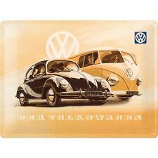 Camping-Car VW & Beetle Classique Voiture Garage Vintage Large 3D Métal estampé