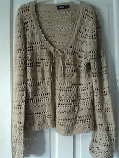 BEIGE SIZE LARGE CARDIGAN BY MEXX