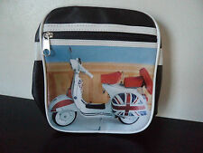 Classic Lambretta Scooter Vespa Messenger Satchel Shoulder Bag Mod Union Jack @a
