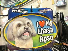 I Love My Lhasa Apso 6 inch oval magnet for car or anything metal  New