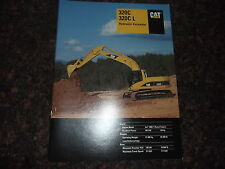 CAT CATERPILLAR 320C 320C L EXCAVATOR SPECIFICATIONS BROCHURE BOOK MANUAL