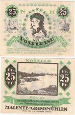 Germany 25 pfennig 1921 Notgeld Malente Gremsmuhlen AU-UNC Banknote
