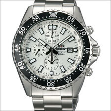 Orient Captain Chronograph Watch with 12-hour totalizer and 45mm Case #TT11003W