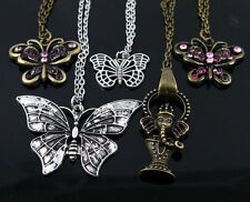5Pcs Wholesale Jewelry Lot Mixed cute Elephant / butterfly Pendant Necklace M75
