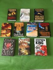 Lot Of 10 Stephen King Horror Novels / Books, All Hardcovers with Dustjackets