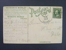 Oberton Nebraska 1909 4-Bar Cancel Postmark Postcard DPO 1909 Only Open 4 Months