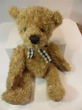 """Collectible Russ Berrie Cromwell Teddy Bear Toy Brown Soft Plush Bean Bag 15"""""""
