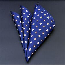Men's Wedding Party Silk Satin Solid Floral Hanky Pocket Square Handkerchief F08