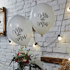 """Mr & Mrs"" Bianco Palloncini x 10-Matrimonio Venue Decorazione-Ginger Ray"